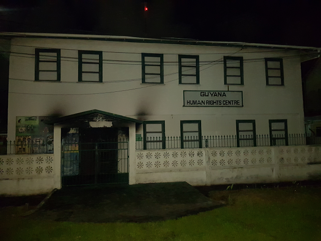 Arsonist(s) targets Human Rights Centre in Georgetown