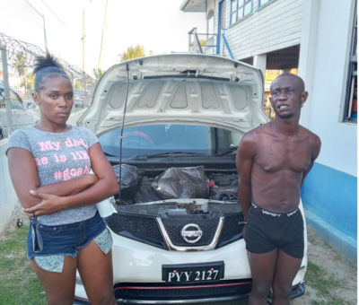 City duo held in Berbice after marijuana, gun find