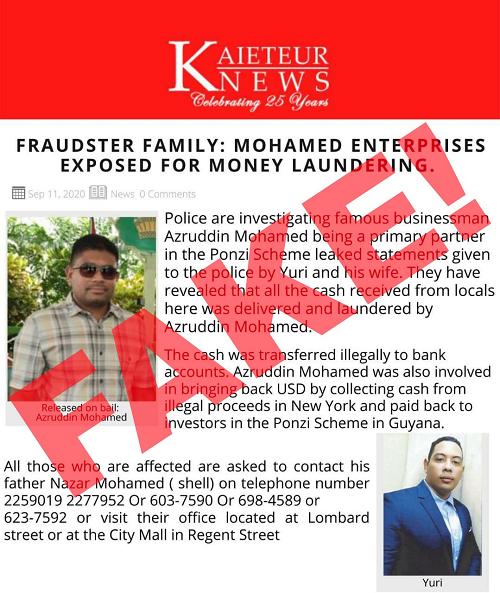 No money laundering probe involving Mohamed Enterprise ongoing- Police PRO
