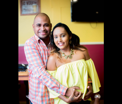 The 'logo' couple; Troy Edmonson and Lisa Prashad
