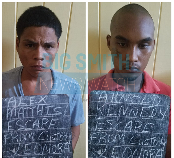 Two murder fugitives recaptured; one remains at large