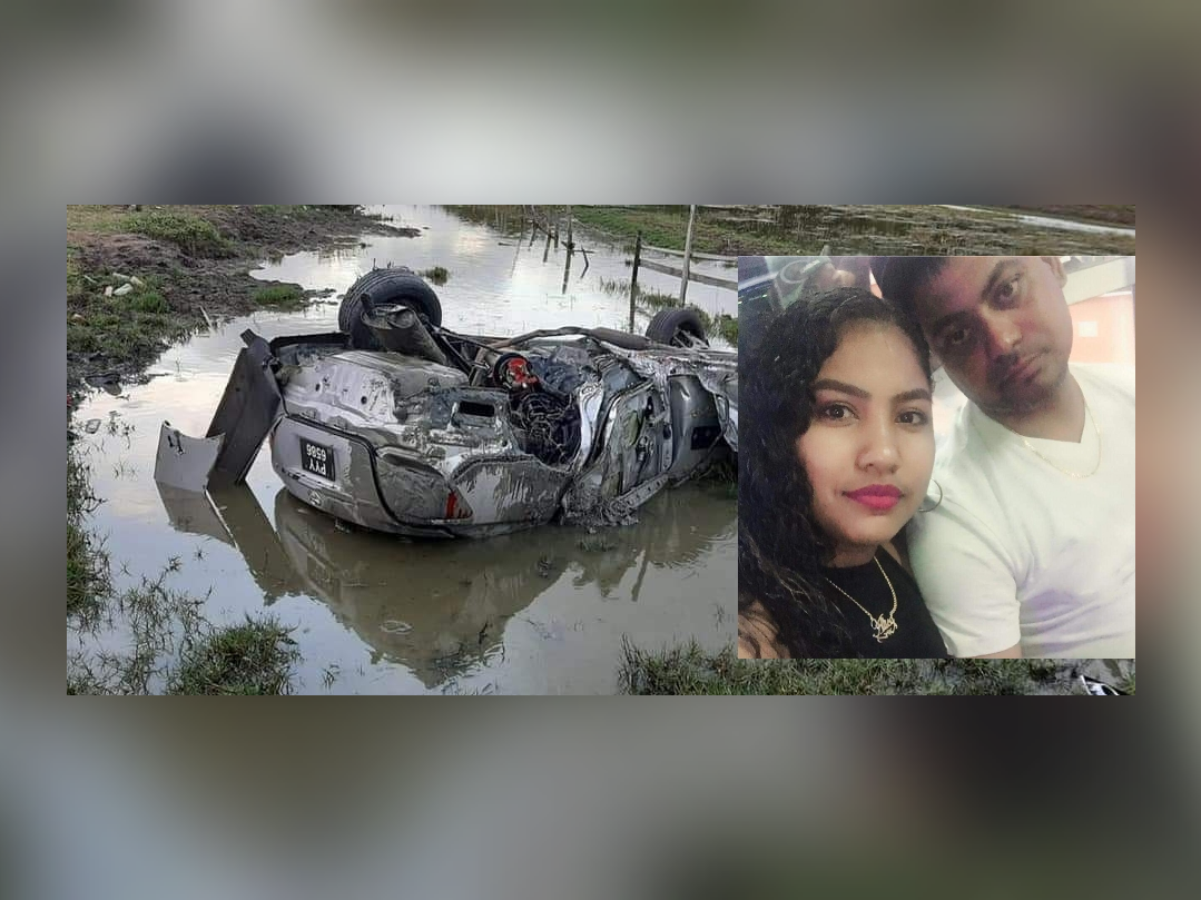 Businessman killed, wife critical after Berbice crash