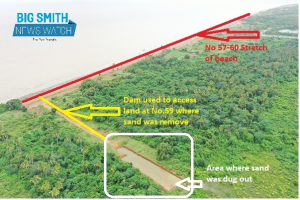 NDC Map confirms sand did not come from No.63 Beach
